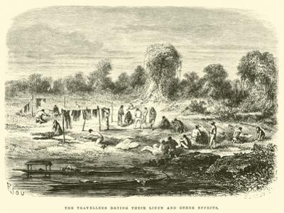 The Travellers Drying their Linen and Other Effects by Édouard Riou