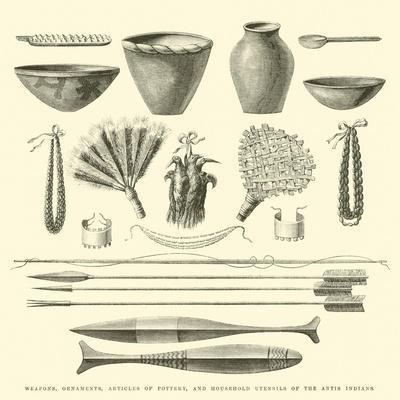 Weapons, Ornaments, Articles of Pottery, and Household Utensils of the Antis Indians