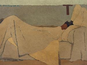 In Bed by Edouard Vuillard