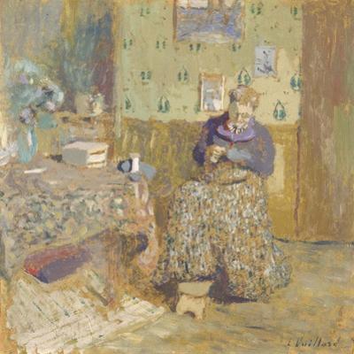 Madame Vuillard Sewing, 1920