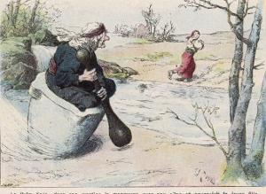 The Baba Yaga Chases the Girl in a Pestle by Edouard Zier