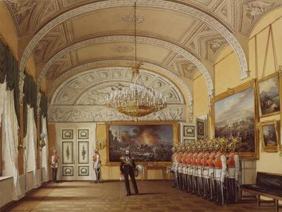 Interiors of the Winter Palace, the Guardroom, 1864