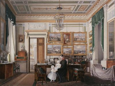 Interiors of the Winter Palace, the Study of Emperor Alexander II, 1850S