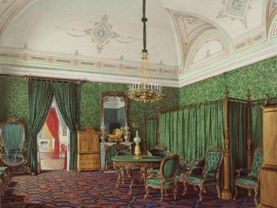 Interiors of the Winter Palace, the Third Reserved Apartment, a Bedroom, 1873