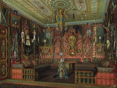 Turkish Room in the Catherine Palace in Tsarskoye Selo, Mid of the 19th C