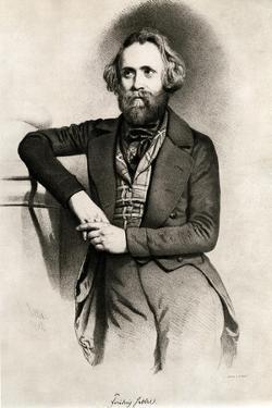Friedrich Hebbel by Eduard Kaiser