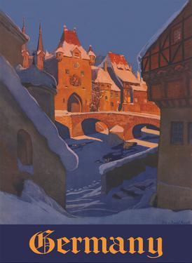 Germany - Winter Village by Eduard von Handel- Mazzetti