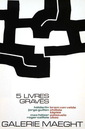Cinq Livres Graves, 1974 by Eduardo Chillida