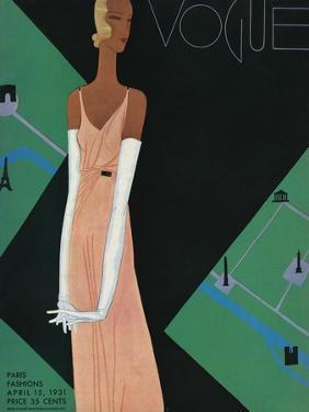Vogue Cover - April 1931 by Eduardo Garcia Benito