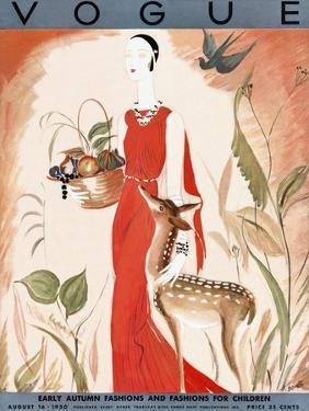 Vogue Cover - August 1930 by Eduardo Garcia Benito