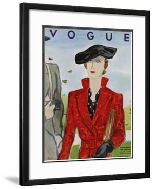 Vogue Cover - August 1934 by Eduardo Garcia Benito