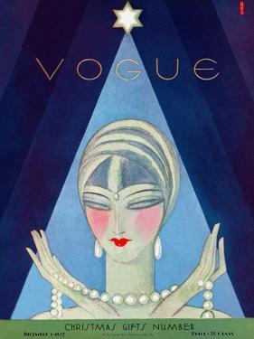 Vogue Cover - December 1927 by Eduardo Garcia Benito