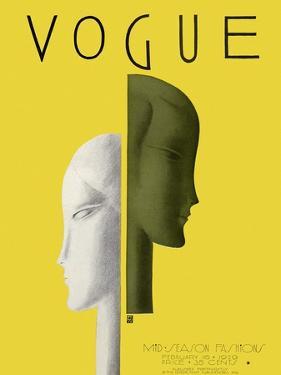 Vogue Cover - February 1929 by Eduardo Garcia Benito