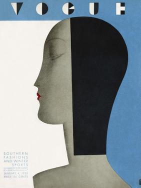 Vogue Cover - January 1930 by Eduardo Garcia Benito