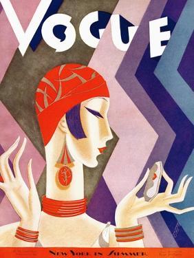 Vogue Cover - July 1926 - Fashion Zig Zag by Eduardo Garcia Benito