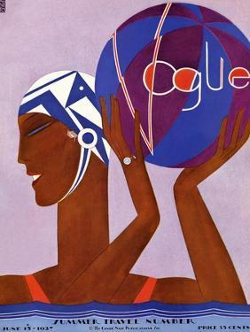 Vogue Cover - June 1927 by Eduardo Garcia Benito