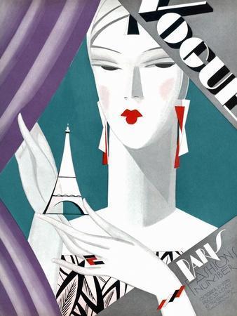 Vogue Cover - October 1926 - Petit Eiffel Tower
