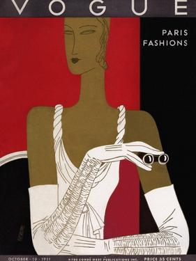 Vogue Cover - October 1931 by Eduardo Garcia Benito