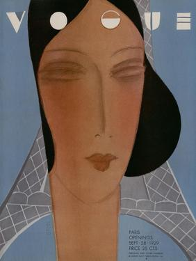 Vogue Cover - September 1929 by Eduardo Garcia Benito