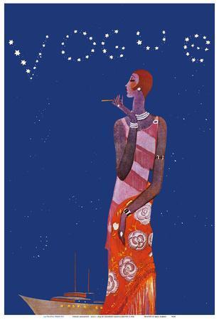 Vogue Magazine - Tropical Night - July 1, 1926