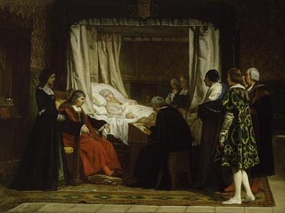 Queen Isabel La Católica Dictating Her Last Will and Testament, 1864