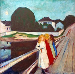 Four Girls on the Bridge, 1905 by Edvard Munch