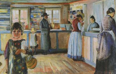 General Store in Vrengen, 1888 by Edvard Munch