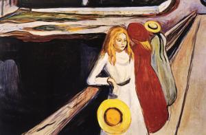 Girl on a Bridge by Edvard Munch
