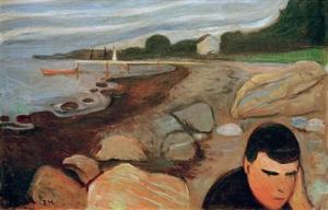Melancholy, 1891 by Edvard Munch