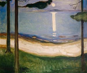 Moonlight, 1895 by Edvard Munch