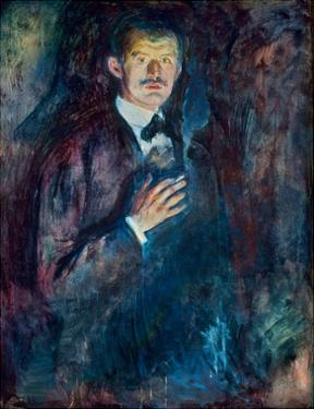 Self Portrait with Cigarette, 1895 by Edvard Munch