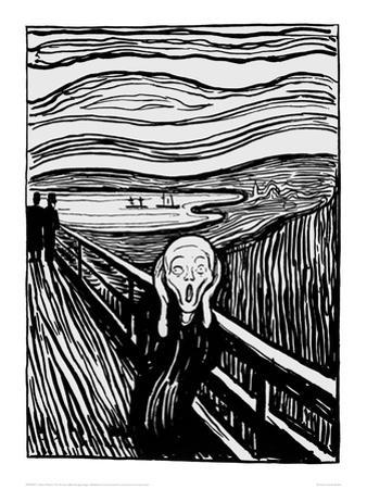 The Scream (Black and White) by Edvard Munch