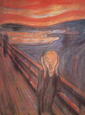 The Scream, c. 1893 by Edvard Munch