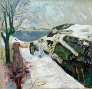 Winter Landscape, 1910 by Edvard Munch