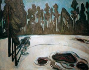 Winter Landscape with Stars, 1900 by Edvard Munch