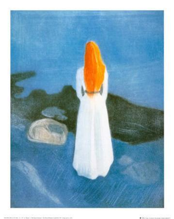Young Girl on a Jetty by Edvard Munch