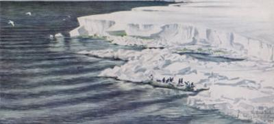The Great Ice Barrier Looking East from Cape Crozier in Antarctica