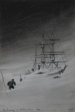 The 'Discovery' in Winterquarters, 1903 by Edward Adrian Wilson