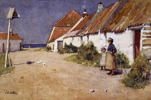 Seaside Cottages with Dovecot by Edward Arthur Walton