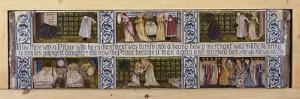Beauty and the Beast Tile Panel, Morris, Marshall, Faulkner and Co., C.1867 by Edward Burne-Jones