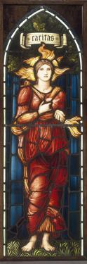 Caritas - A Stained Glass Window by Edward Burne-Jones