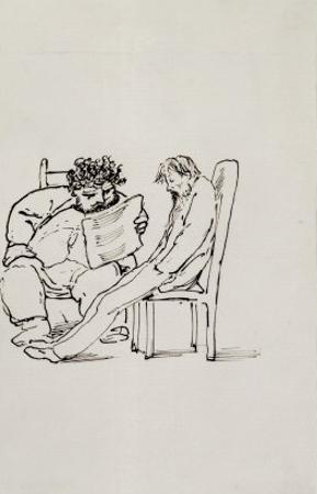 Cartoon of William Morris
