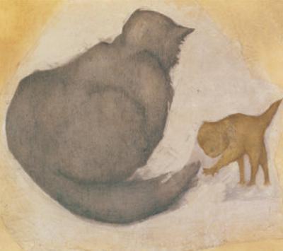 Cat & Kitten by Edward Burne-Jones
