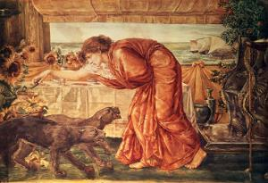 Circe Pouring Poison into a Vase and Awaiting the Arrival of Ulysses by Edward Burne-Jones