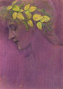 Girl's Head: a Fantasy, 1897 by Edward Burne-Jones
