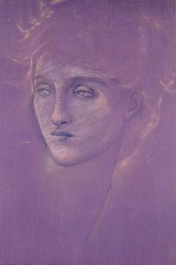 Head of a Woman, 1890s by Edward Burne-Jones