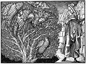 Illustration from the Kelmscott Press Edition of the Works of Geoffrey Chaucer, 1896 by Edward Burne-Jones