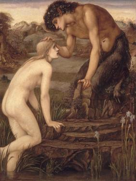 Pan and Psyche, 1870s by Edward Burne-Jones