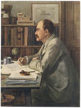 Rudyard Kipling English Writer Working at His Desk by Edward Burne-Jones