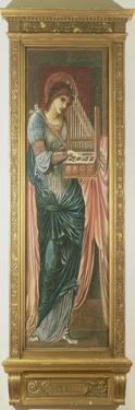 St. Cecilia (Tempera on Panel) (See also 198348) by Edward Burne-Jones